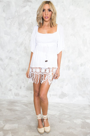 Fringe Crochet Tassle Sundress - Haute & Rebellious
