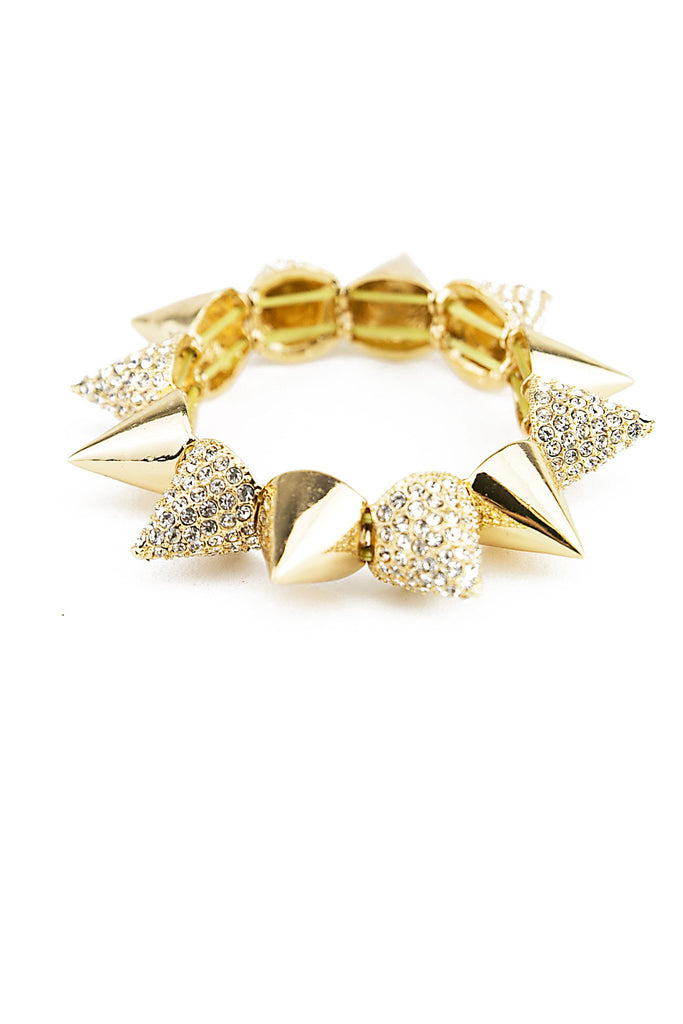 HEAVY SPIKES CRYSTALED BRACELET