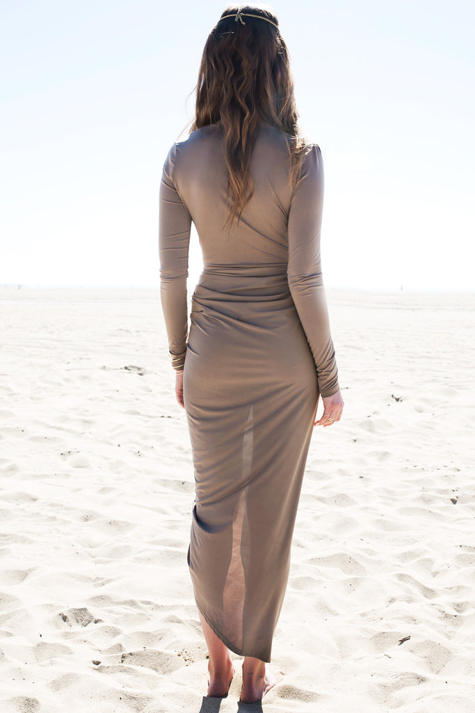 Wrap Draped Body-Con Dress