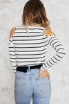 Seeing Double Stripes Cutout Tee /// Only 1-M Left /// - Haute & Rebellious