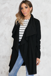 Industry Type Drape Collar Coat - Haute & Rebellious