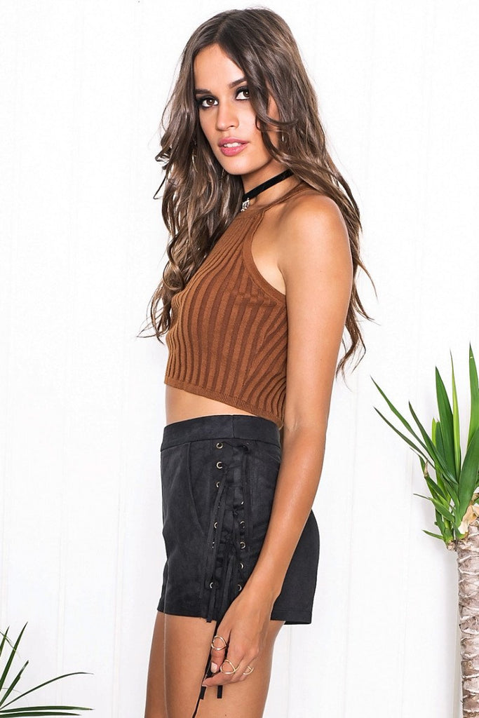 Naomi Ribbed Crop Top - Haute & Rebellious