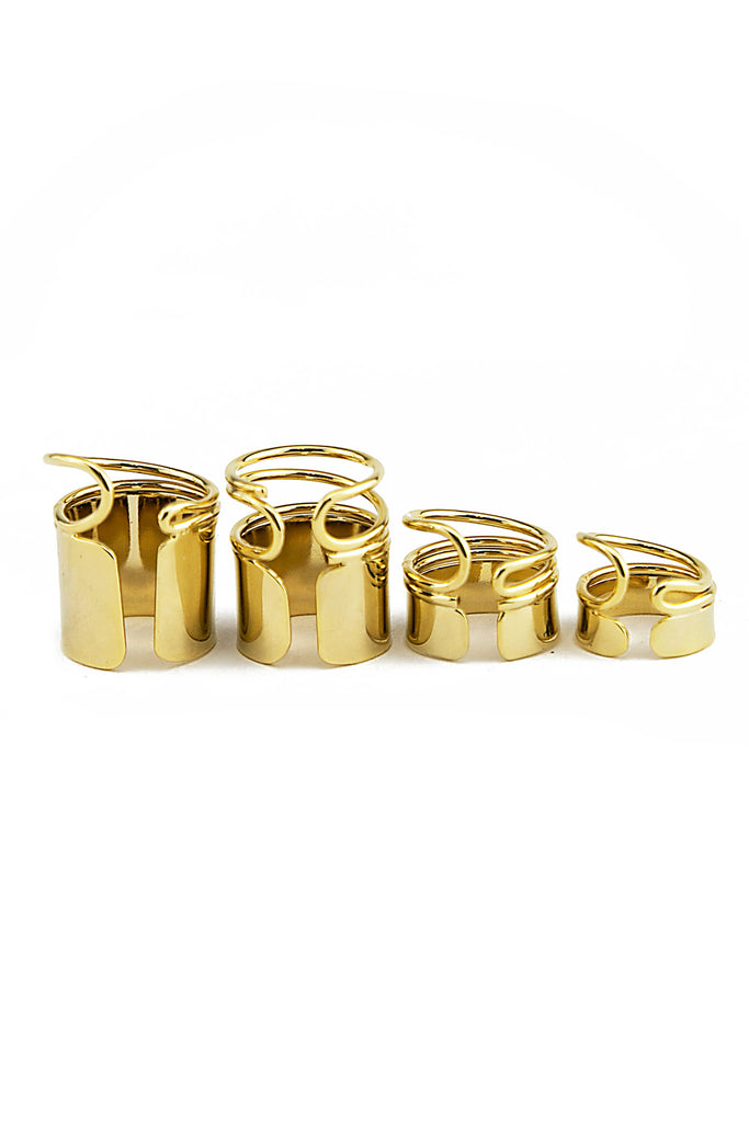 PITT GOLD PLATE RING SET