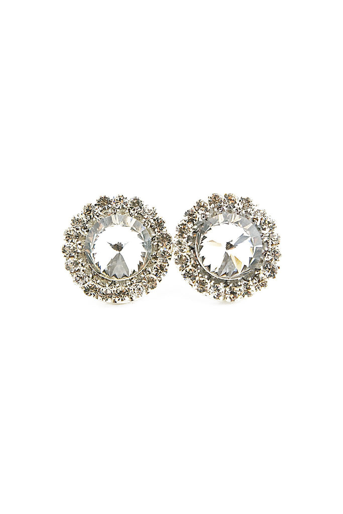 LARGE CRYSTAL STONE STUD EARRINGS