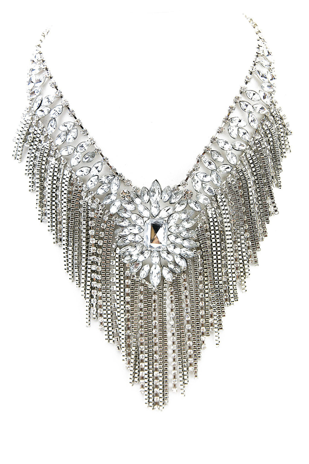 AVERY CRYSTAL CHANDELIER NECKLACE - Haute & Rebellious