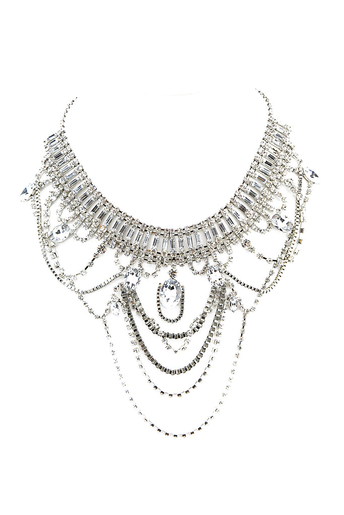 VIVIENNE CRYSTAL CHANDELIER NECKLACE
