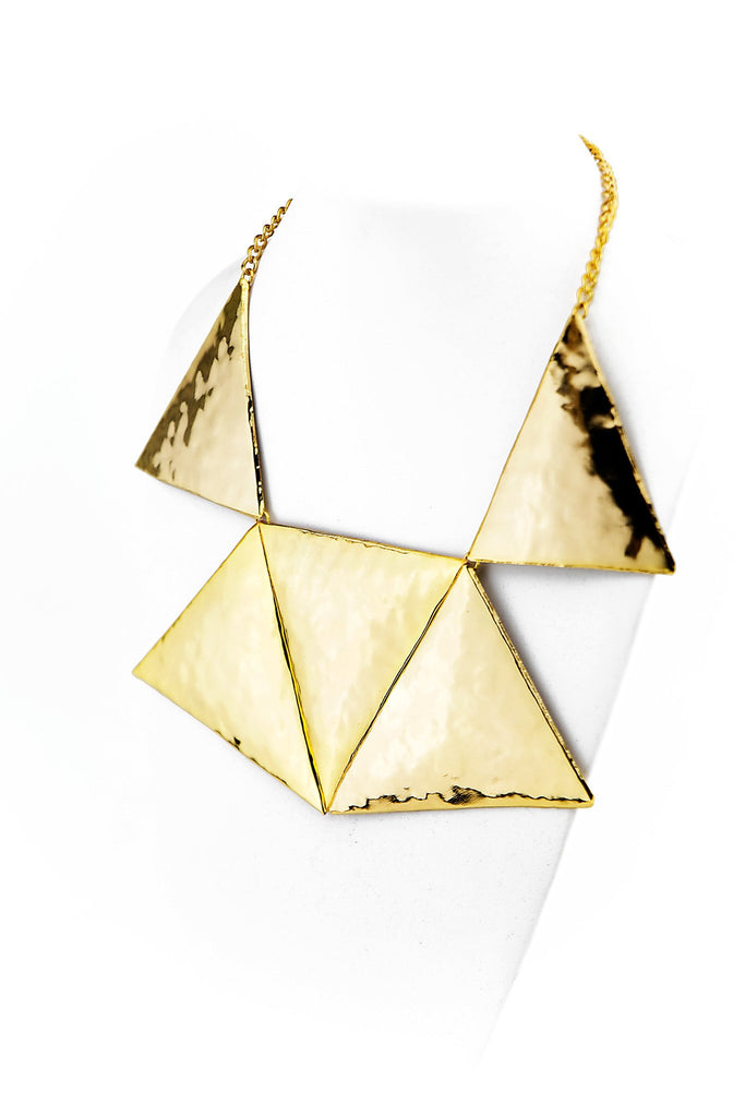 MELTED GOLD TRIANGLE NECKLACE