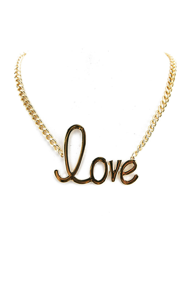 MELTED GOLD LOVE NECKLACE