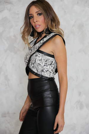 Enchanted Lands Lace Cross Top - Haute & Rebellious