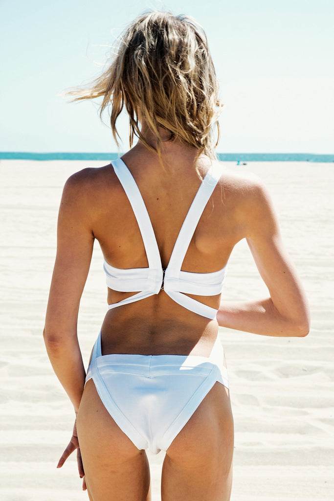 Leydah Cutout One-Piece Bikini - White