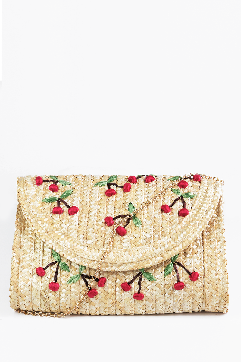 Cherry Blossom Straw Bag - Haute & Rebellious