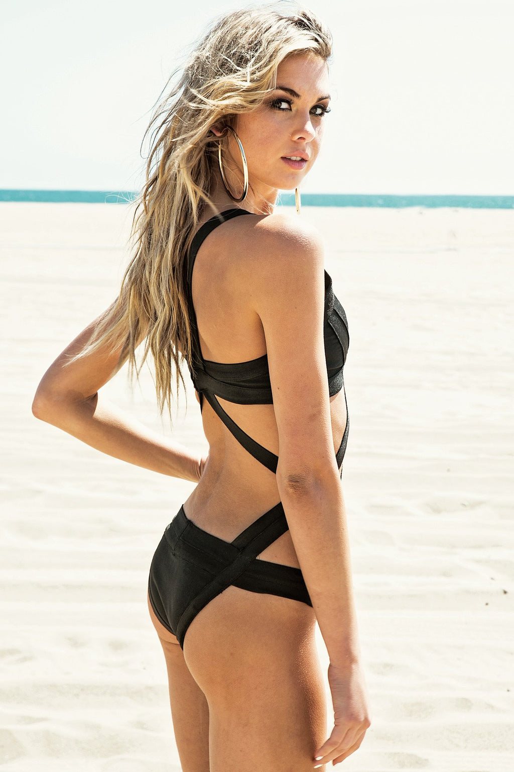 Leydah Cutout One-Piece Bikini - Black /// Only 1-L Left /// - Haute & Rebellious