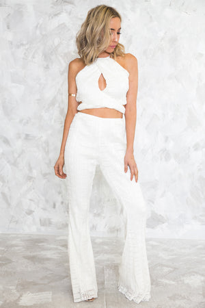 White Lace Crop Top /// ONLY 1-L LEFT/// - Haute & Rebellious