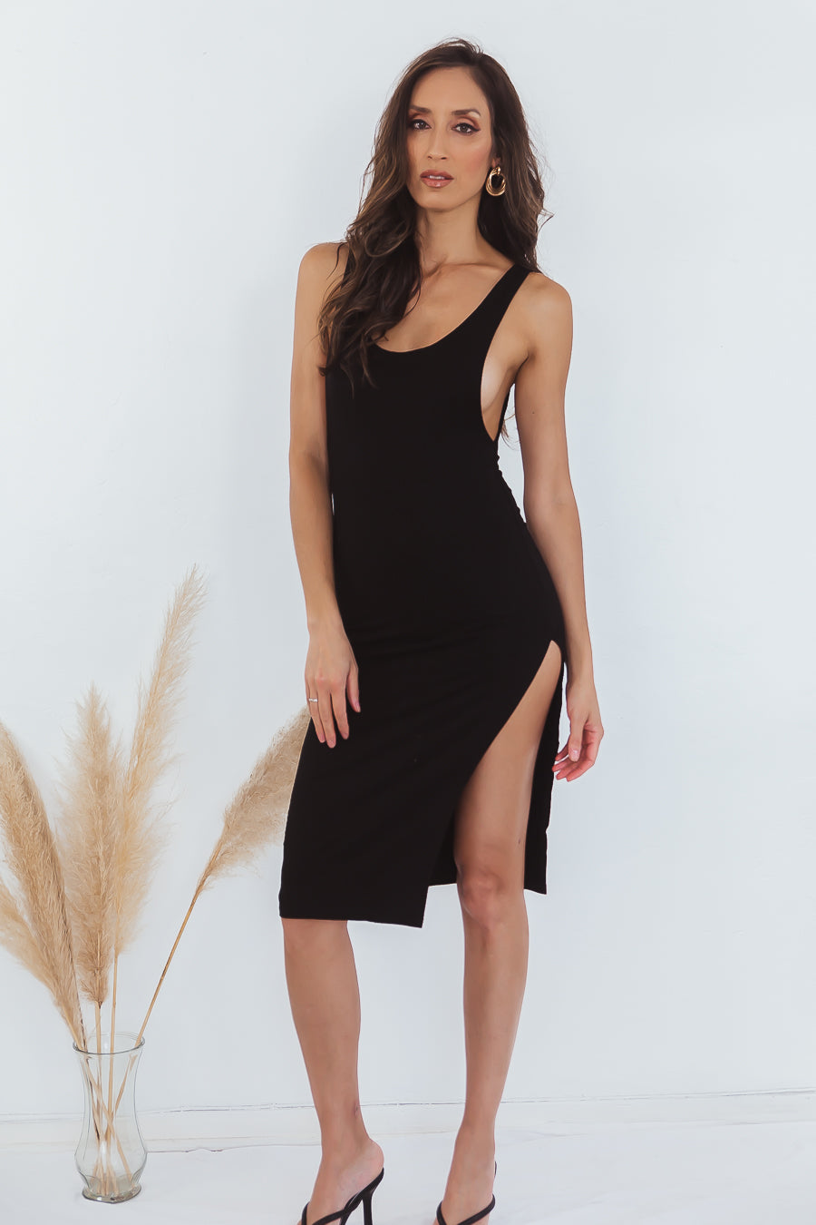 Run Up Body-Con Jersey Midi Dress