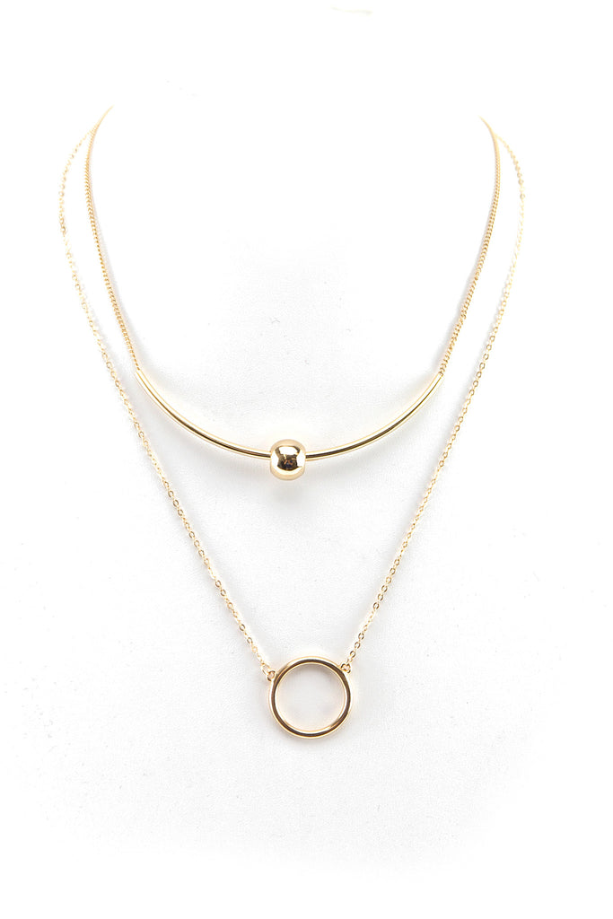 PETITE BALL & CIRCLE NECKLACE