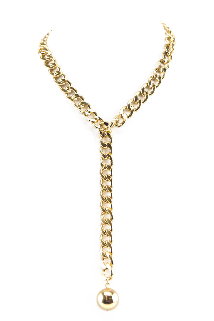 WRECKING BALL CHAIN LINK NECKLACE