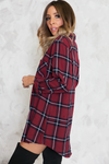 Plaid Oversize Button-Up Shirt - Haute & Rebellious