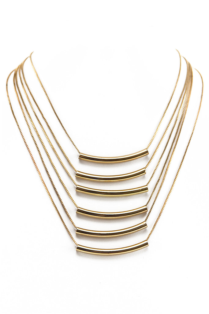 PETITE MULTI PIPE TUBE NECKLACE