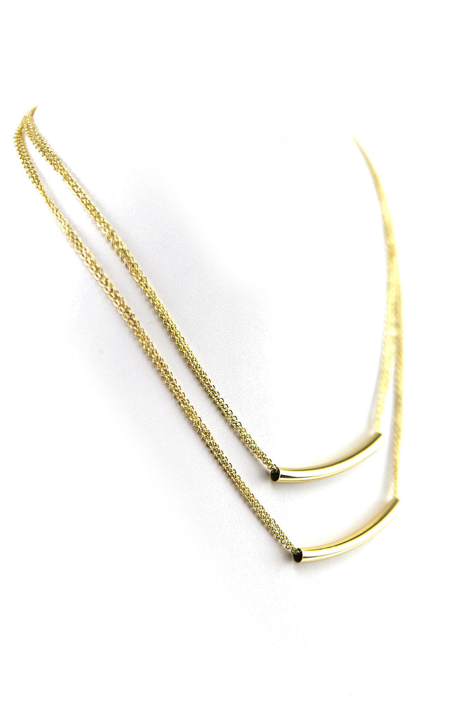 PETITE PIPED TUBE NECKLACE