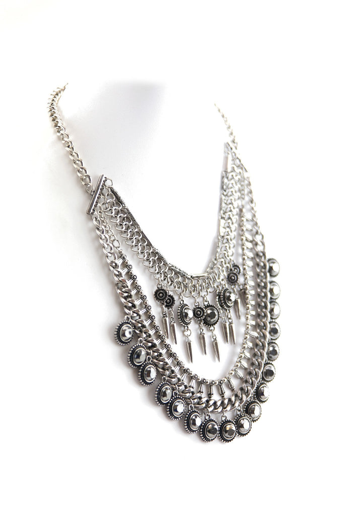 GYPSY COMBO NECKLACE - SILVER