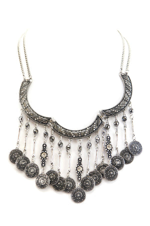 GYPSY PRINCESS NECKLACE - SILVER - Haute & Rebellious