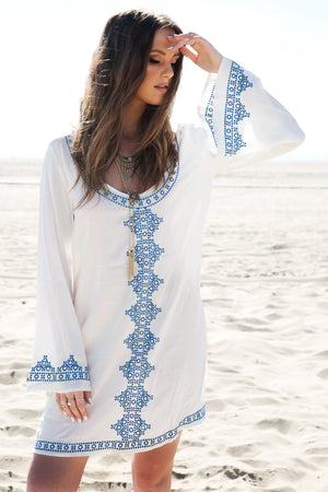 Embroidered Tunic Dress - Haute & Rebellious