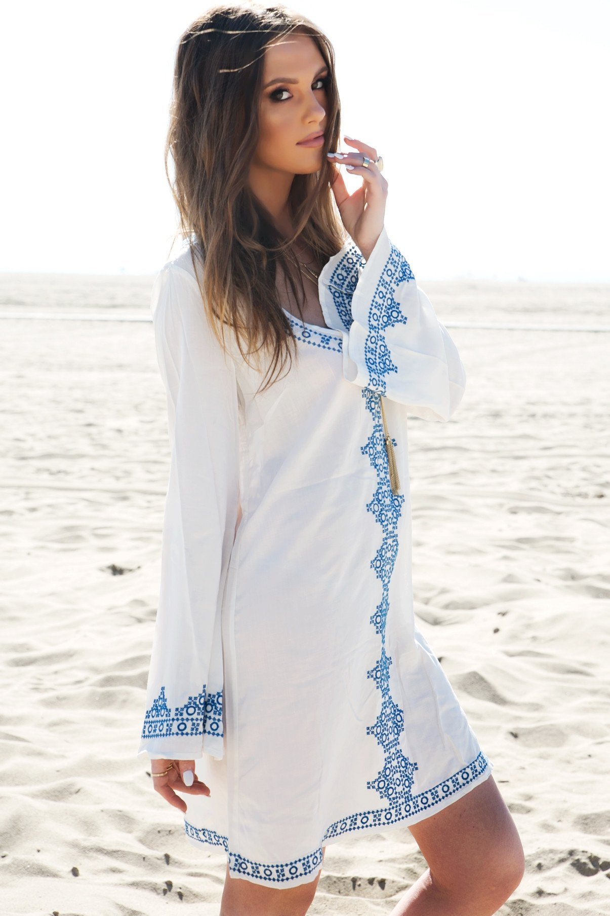 Embroidered Tunic Dress     Only 1-L Left     e668f6616