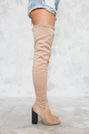 Heart on Fire Thigh High Boots - Nude - Haute & Rebellious