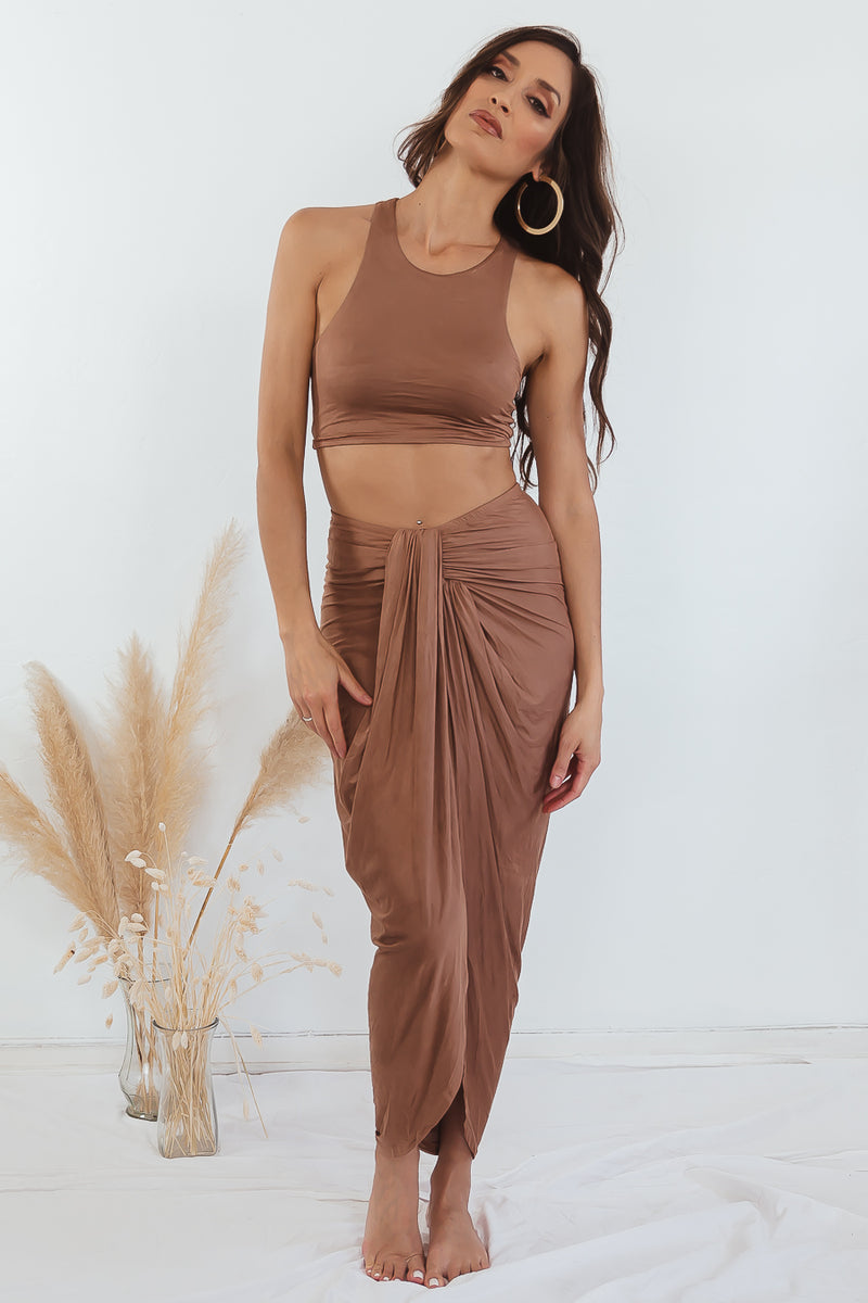 Jeannie Two-Piece Set - Tan