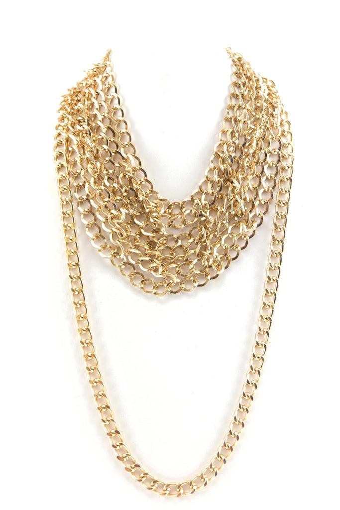 MULTI CHAIN LINK HEAVY NECKLACE