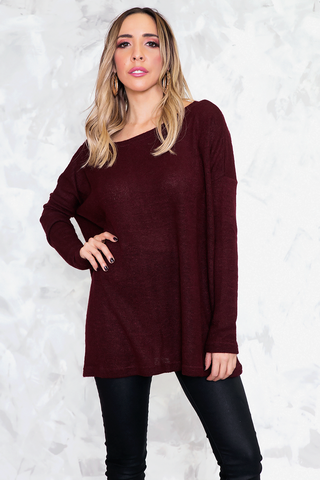 No Return Cutout Sweater - Black