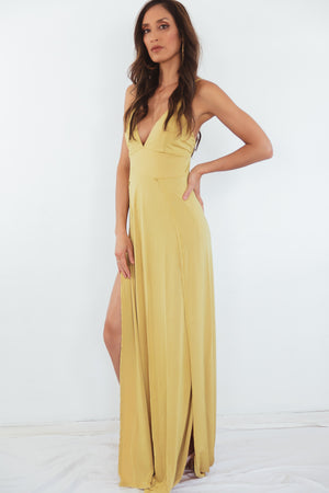 Let You Get Away High-Slit Maxi Dress