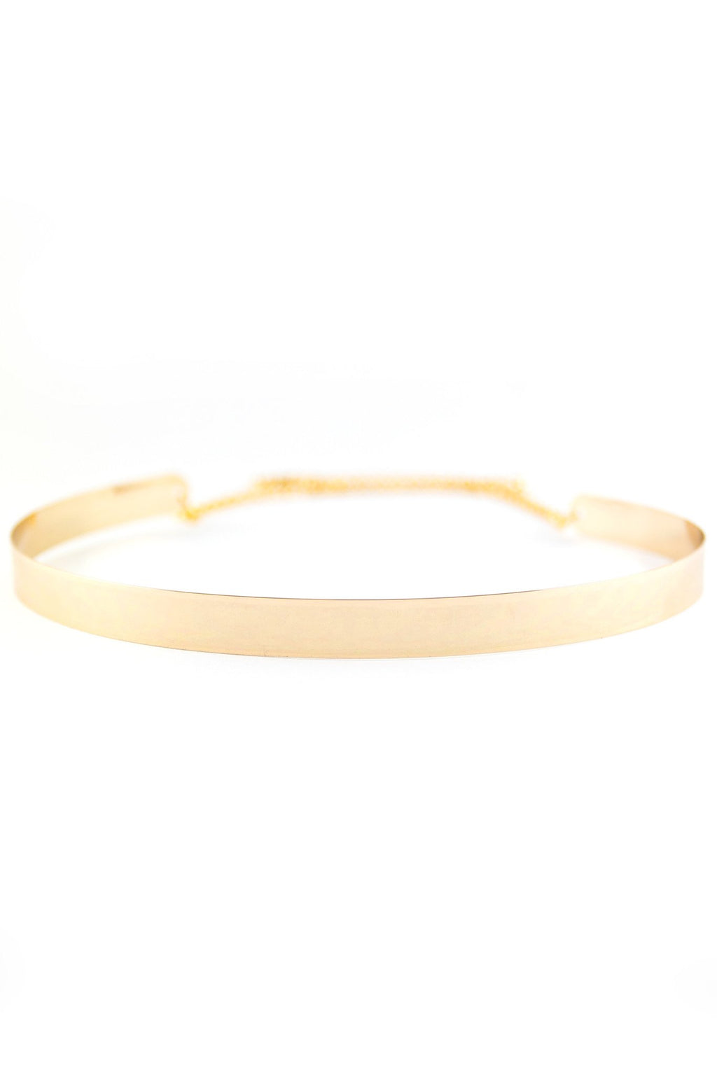Narrow Gold Plated Cuff Belt - Haute & Rebellious