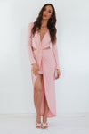 Lora High Slit Maxi Dress - Pink