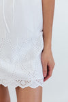 Eyelet Detail Mini Dress