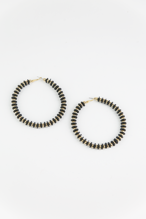 Stand Alone Hoop Earring - Black - Haute & Rebellious