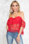 Off-Shoulder Crochet Top - Haute & Rebellious
