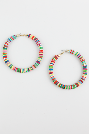 I Would Like Color Hoop Earring - Haute & Rebellious