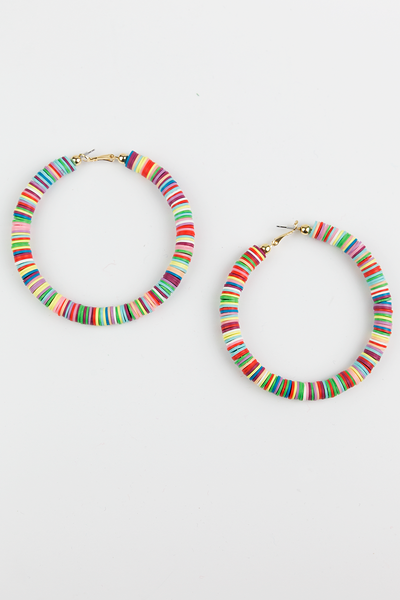 I Would Like Color Hoop Earring
