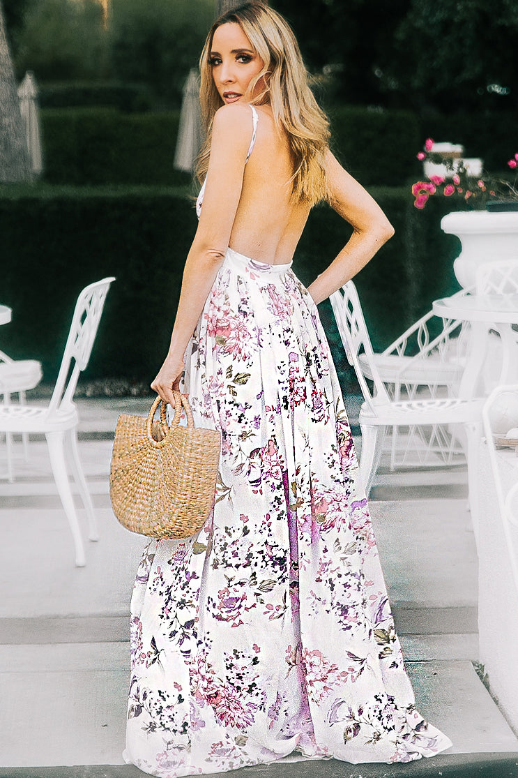 This Life Floral Open-Back Maxi