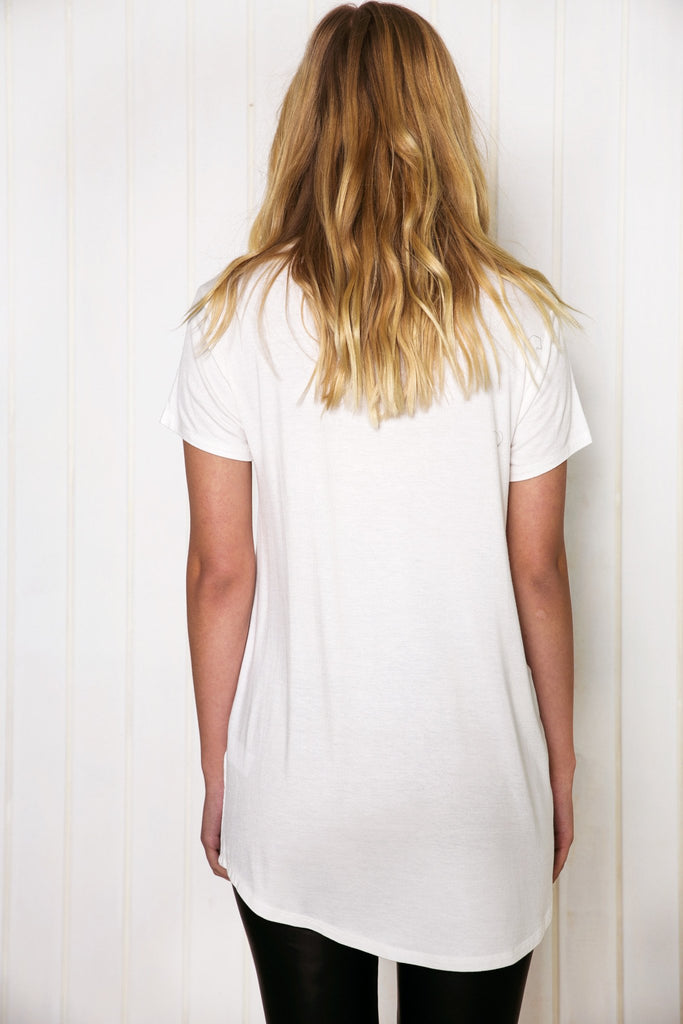 Maurah V-Neck Tee - White