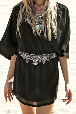 Kara Crochet Trim Cover-Up