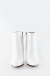 Ankle Heel Booties - White