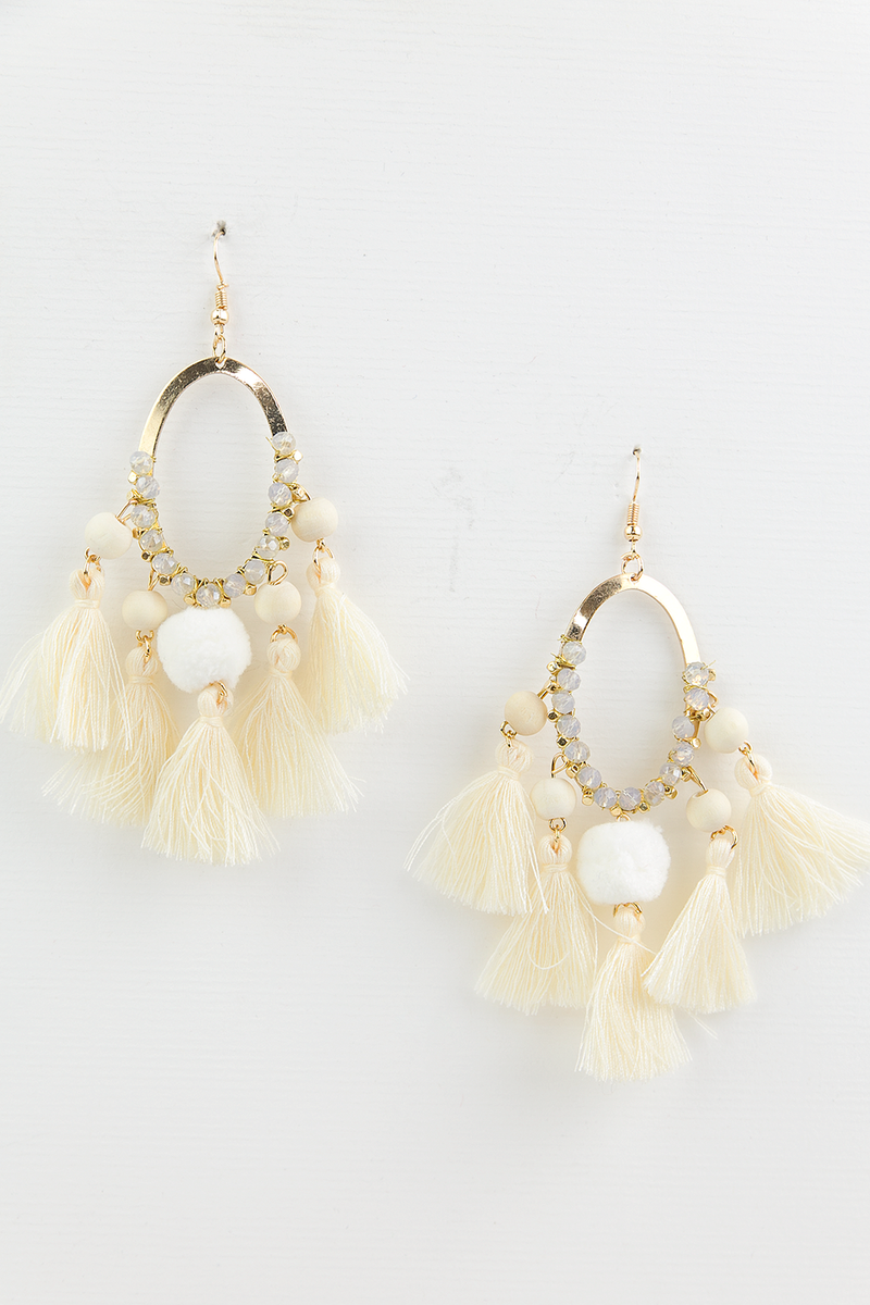 See You Fringe Earrings - Ivory - Haute & Rebellious