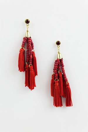 Feel Good Beaded Fringe Earring - Haute & Rebellious
