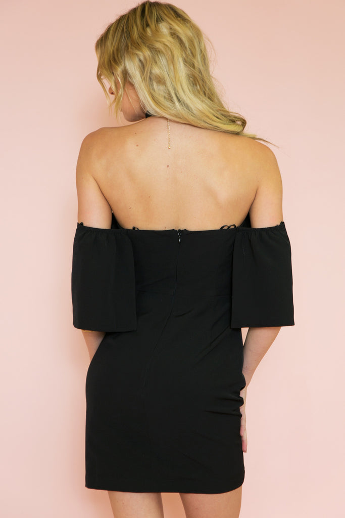 Penelope Off-Shoulder Sleeve Dress