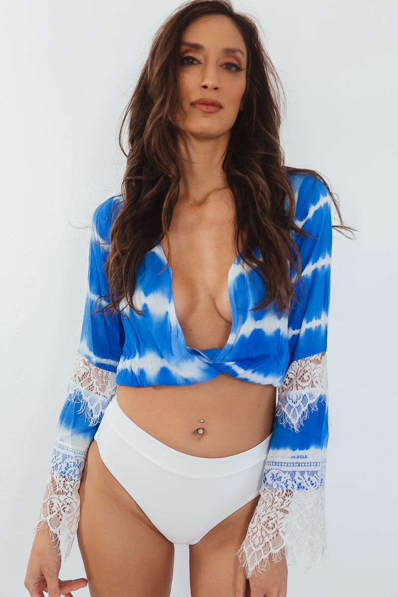 Taryn Bell Sleeve Crop Top
