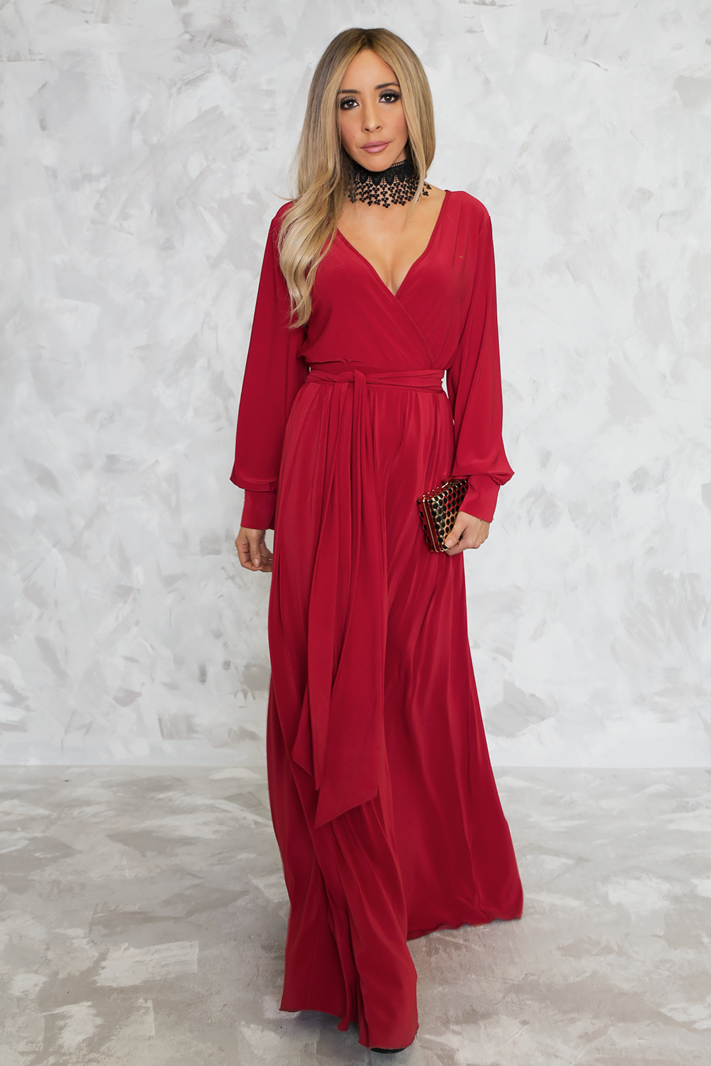 Irresistible Tie-Wrap Maxi Dress - Haute & Rebellious