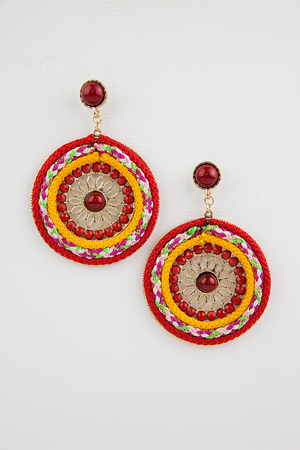 So Good Beaded Pendant Earring - Haute & Rebellious