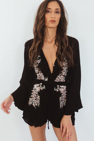 Breath it in Embroidery Romper
